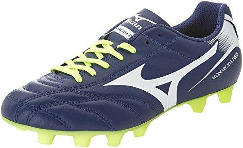 Mizuno Monarcida Neo Md, Scarpe da Calcio Uomo, Blu (Blue Depths/White/Safety Yellow), 43 EU