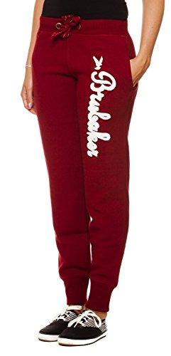 Brubaker n.y. eagle american style fitness workout pantalon de survêtement pour femme 6 coloris-taille s-xL Rouge - Bordeaux