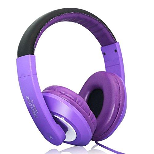 Microfono stereo per cuffie auricolari per cuffie per PC Cuffie da gioco con auricolare Lettore MP3, Radio FM, Auricolare Collegato,...