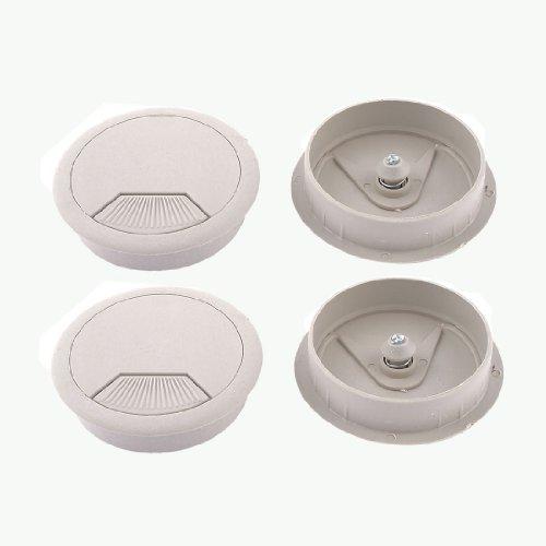 70mm Schreibtisch Tisch Kunststoff Tülle Kabel Tidy Abgang Draht Loch Cover Grau -