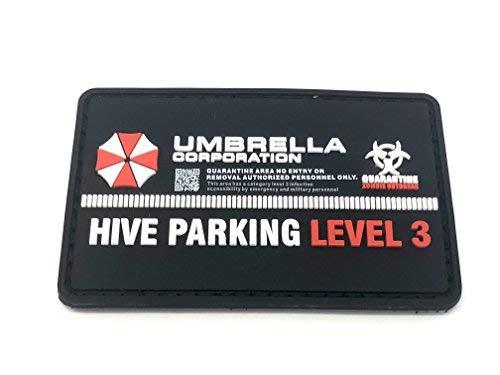 Umbrella Corporation Hive Parking Morale Patch PVC Airsoft Paintball Klett Emblem Abzeichen