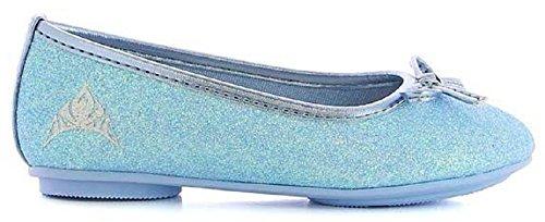 Frozen Elsa Ballerinas Schuhe mit Glizer Blau