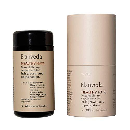Healthy Hair Wachstum Vitamin durch Elanveda | Rein natürliche, vegane Ergänzung für Haarausfall und dünner und/oder dünner werdendes Haar 60 Kapseln