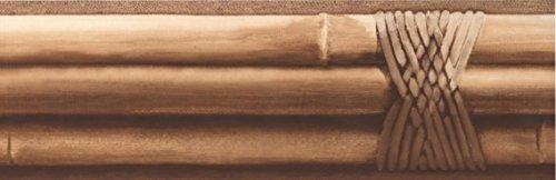 York Wallcoverings Bambusstangen gebunden Beige Braun Wallpaper Border Retro-Design, Roll-15' x 4