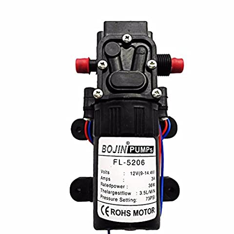Naïer Petite pompe à eau Micro Pompe de fontaine de contrôle intelligent pour lavage de voiture et caravane Bateau RV le jardin 5206 Single