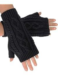 Unisex Warm Handschuhe Armstulpen Pulswärmer Handstulpen Strick Fingerlos JO