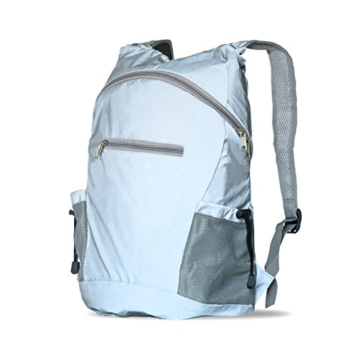 Luxelu Cycling backpack - high visibility, reflective, foldable, lightweight, waterproof, rucksack - High viz school, running, walking, cycle bag - Reflexion