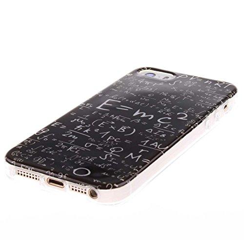 Coque étui Pour Apple iPhone 5 5S SE Ultra Fine Slim Case Poids léger Flexible TPU Gel Anti Choc Peinture Motif Style de Tribu Noir Couleur-11