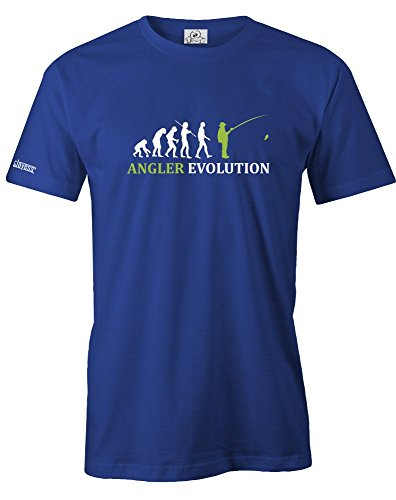ANGLER EVOLUTION - HERREN - T-SHIRT in Royalblau by Jayess Gr. XXXL