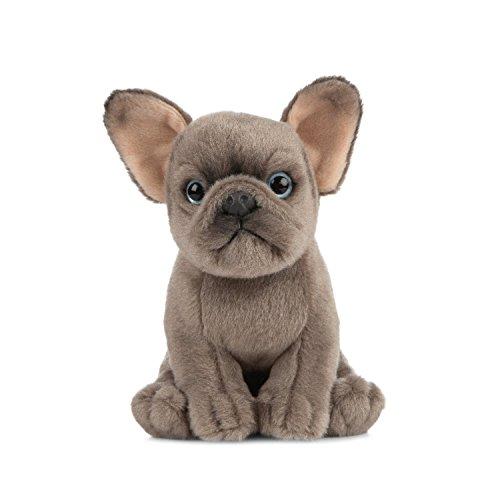 Muñeco de peluche de cachorro de bulldog francés marrón