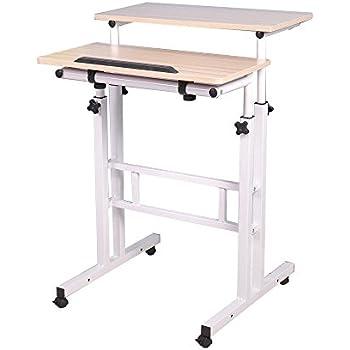 computerschreibtisch steh b rotisch mobiler ergonomischer stand up schreibtisch stehtisch. Black Bedroom Furniture Sets. Home Design Ideas