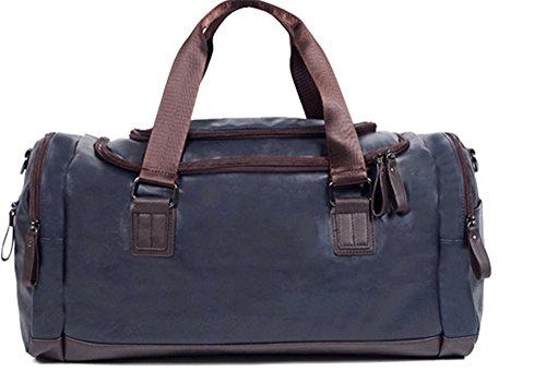 Xinmaoyuan uomini borsette uomini Borsa a Tracolla obliqui di spallamento trasversale ampia capacità multifunzione Leisure Travel Bag,marrone Blue