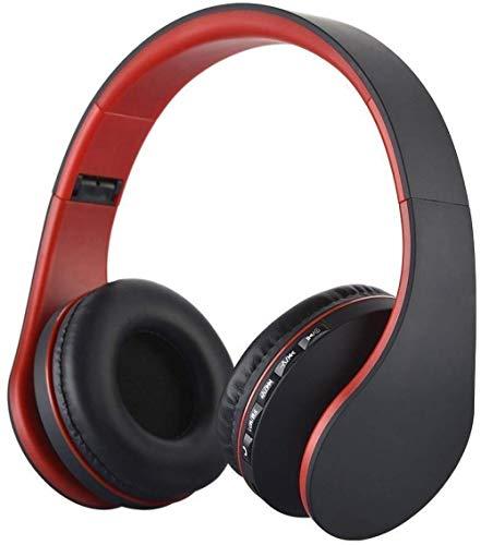 ZKWWT Casque sans Fil Pliable 4 en 1 Casques d'écoute Mains Libres stéréo sans Fil/Filaire avec Prise en Charge du Microphone Radio FM Lecteur MP3-noir