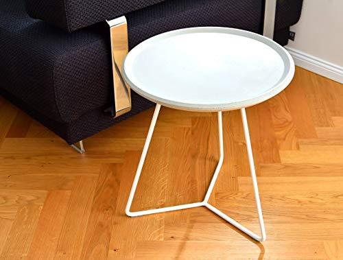 Tisch Beistelltisch Beton Gartentisch Rund Couch - Moderne Stahl-tisch