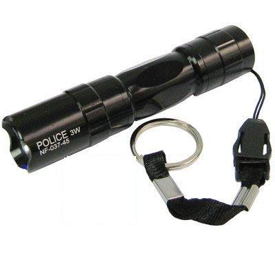 police-3w-led-high-power-waterproof-keyring-torch-black-nf-037-45