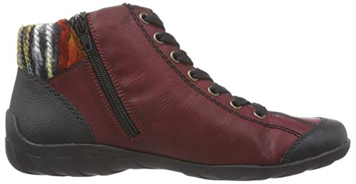 Rieker L6540, Sneakers Hautes femme Rouge (Schwarz/Wine/Orange/Multi/Mogano/00)