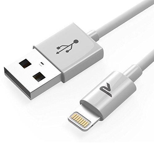 Câble iPhone [2m/6.5ft] Rampow® Câble Lightning vers USB [MFI certifié Apple] - GARANTIE À VIE - Chargeur iPhone avec Connecteur Ultra Résistant en Aluminium pour iPhone 7 / 7 Plus / 6s / 6s Plus / 6 / 6 Plus / 5C / 5S / 5 / SE, iPad, iPad Pro, Air, iPad mini et Des Autres - Blanc