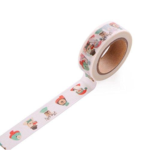 Tutoy Kreativer Weihnachtsbaum Weihnachtsmann Tape Dekorative Kleber Washi Tape Masking Aufkleber Diy Tools (Diy Für Kostüme Halloween Mädchen)