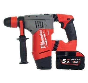 Milwaukee 4933448010-m28chpx-502C Bürstenloser Hammer FIXTEC M28FUEL 5,0Ah SDS-Plus, 3Modi, 4,7j, Perf Cap Max 28mm