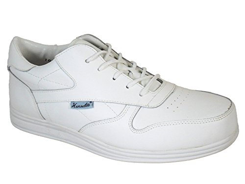 Ladies Henselite Victory Sports Leather Lawn Bowling Shoes White Test