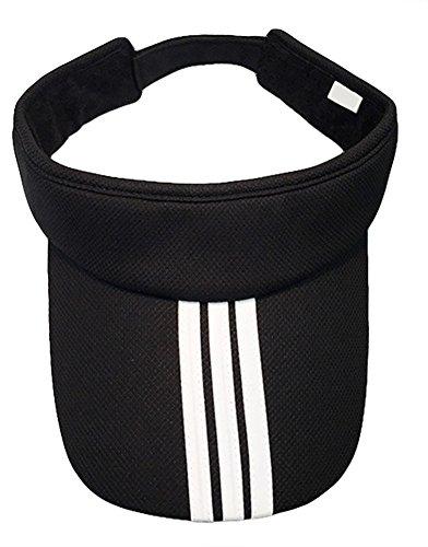 Roffatide Damen Herren Sport Golf Tennis Visor Hut Baseballhut Kappe Sommer Draussen Einstellbar UV Schutz Sonnenhut Schwarz