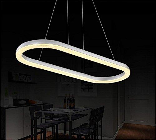 BJVB Moderna alluminio LED Lampadario piazza circolare ciondolo appeso su The Living Room incasso luci di soffitto del filo da pranzo tetto filo di acciaio Lampada a sospensione 70 * 30cm / 36w (luce calda)