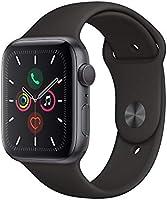 Apple Watch Series 5 (GPS, 44‑mm) kast van spacegrijs aluminium zwart sportbandje - S/M en M/L