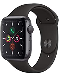 Apple Watch Series 5 (GPS, 44 mm) Aluminiumgehäuse Space Grau - Sportarmband Schwarz