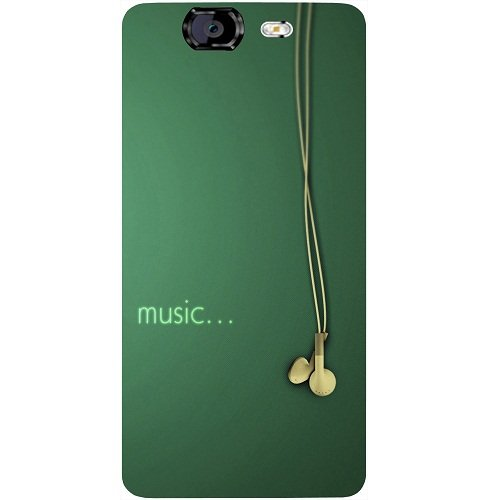 Casotec Music Design Hard Back Case Cover for Micromax Canvas Knight A350