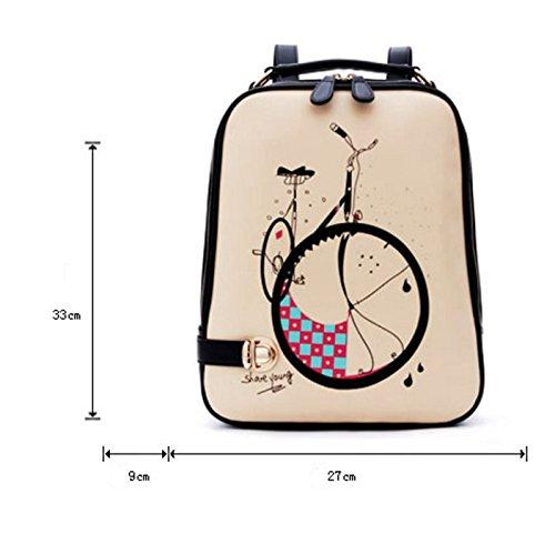 borsa a tracolla Ms./versione coreana del piccolo fresco/Collegio Ventopuzaino/schoolbags fumetto-A A