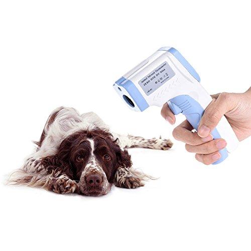 Decdeal Infrarot Tiere Thermometer Katze Thermometer Hund Thermometer mit Hintergrundbeleuchtung und Datenspeichern