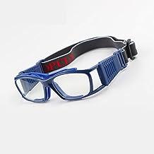 EnzoDate Vintage Gafas de Baloncesto Slimfit Gafas Protectoras de Seguridad de Deportes (Armada)
