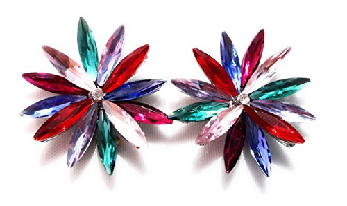 Pendientes Cristales Colores Mujer Fiesta Boda Pendientes