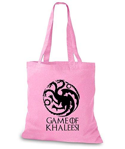 StyloBags Jutebeutel / Tasche Game of Khaleesi - mother of Dragons Rosa
