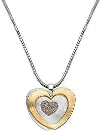 Schn/äppchenladen24 Halskette Herz Glitzer 6er Set Herzen an Halsketten 6 St/ück