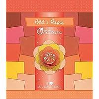 Avenue Mandarine 52682O Packung (mit 18 Blatt Glitterpapier, 20 x 20 cm, 200g, ideal für Bastelaktivitäten) 1 Pack rot / orange