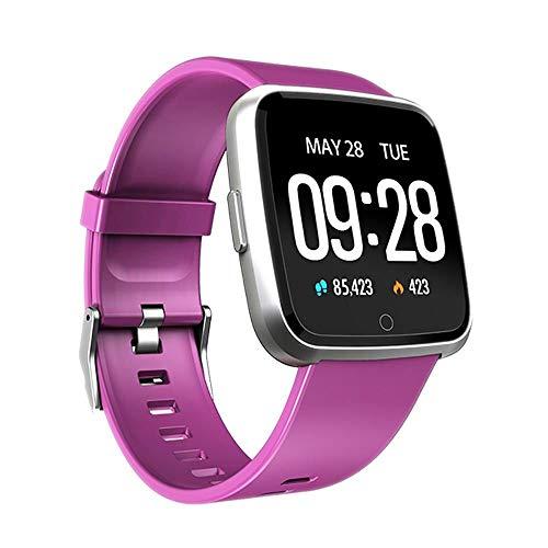 Y7 Pulsera Inteligente Presión Arterial Oxígeno Sport Fitness Tracker Reloj Monitor de Ritmo cardíaco Pulsera PK Fitbit Versa Mi Band 3 115 Plus (púrpura)