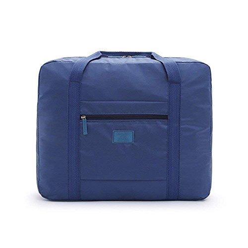 Folding travel Bag,MMHDZ Reise Faltbare Tasche Damen und männer, wasserdicht licht reisegepäck Tasche Sport, Gym, Urlaub große kapazität (Blau)