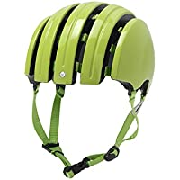 Carrera E00466 Foldable Basic, Casco de Ciclismo Unisex Adulto, Verde (Lime), L
