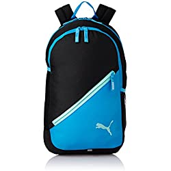 Puma 17 Ltrs Black-Light Blue Casual Backpack (7512101)