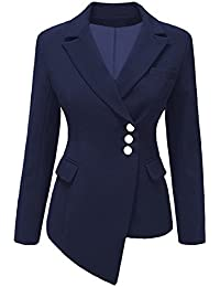 tailleur con giacca lunga blu