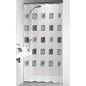 sealskin optics rideau de douche transparent 180 x 200 cm cuisine maison. Black Bedroom Furniture Sets. Home Design Ideas