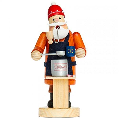 Sikora Serie A - 2 – Figurita de Papá Noel de madera para cono de i
