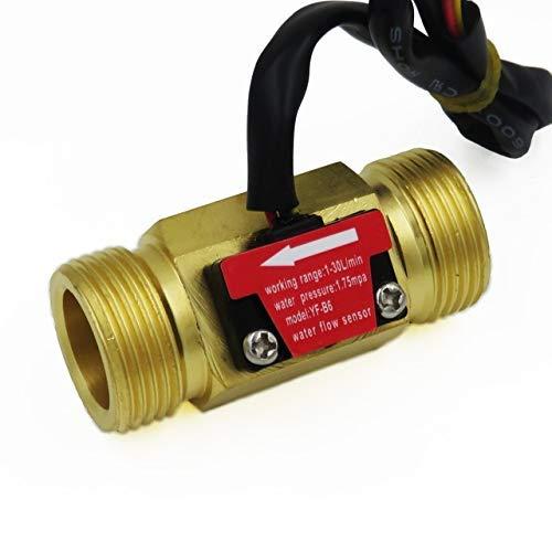 rchflussmesser Sensor Zähler Halle Durchflussmesser Pool Schwimmerschalter für Warmwasserbereiter, Kreditkarte Maschine DN20 G3 / 4 1-30L / min ()