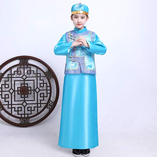 Royal Kind's Prinz Kostüm - Cxlyq Hanfu Kind Qing Dynastie Beller Cosplay Kostüm Kinder Jungen Traditionellen Chinesischen Prinzen Kleidung Mädchen Royal Tang Dynasty Dance Outfit 90