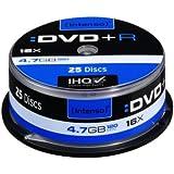 Intenso DVD+R Rohlinge 4,7GB 1x-16x 25er Spindel Cakebox kratzfest