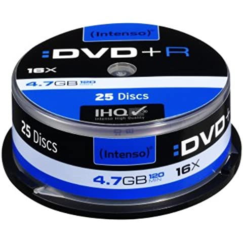 Intenso 4111154 - Tarrina de 25 unidades DVD+R (4.7 GB, 16x)