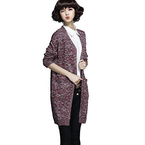 WTUS Cappotto Da Donna Nuovo Maglione Moda 2