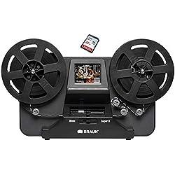 Scanner de pellicule super 8 et 8mm, Reflecta scanner de films super 8 et 8mm avec carte mémoire SD 32 GO, taille max. de la bobine 12,7cm