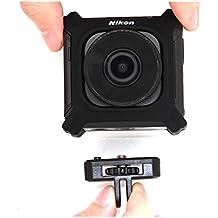 Telesin treppiede adattatore con base di supporto a 1/10,2cm 20fotocamere per Nikon Keymission 170, Nikon Keymission 360Wi-Fi shock & impermeabile 4K video Action Camera camcorder